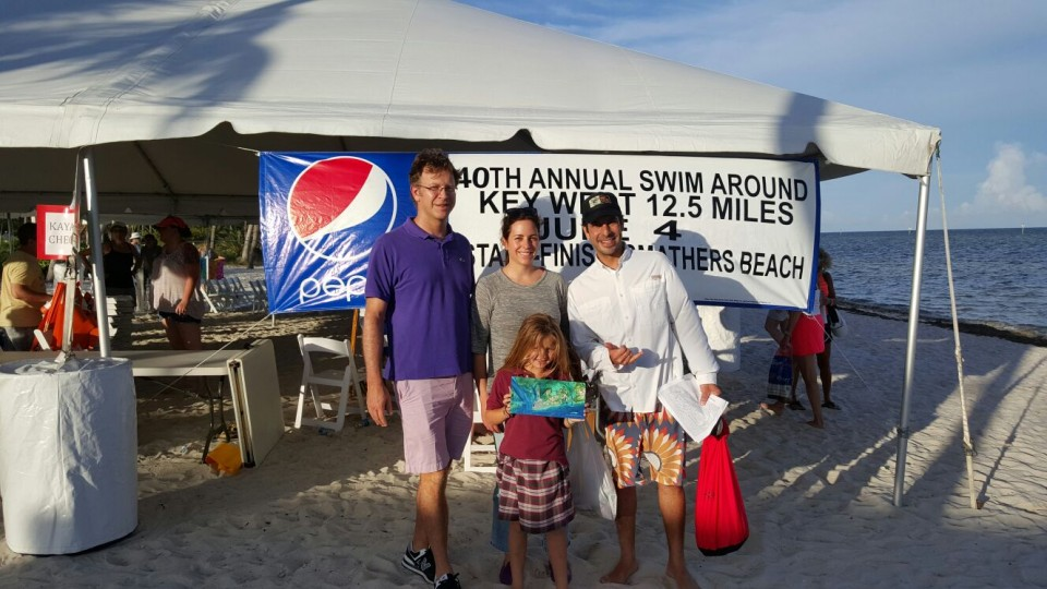 The best part of the event was having my husband Nicolas Griffin, daughter Eva Luisa and my childhood friend and